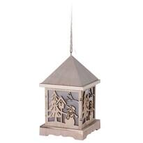 Drewniana latarnia LED Trevi, 9,5 x 16,5 cm