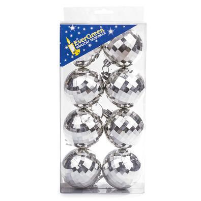 Vánoční koule 8 ks, stříbrná