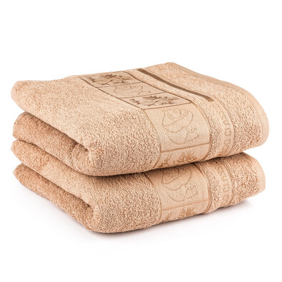 4Home ručník Bamboo béžová, 50 x 100 cm, 2 ks