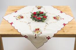 Vánoční ubrus Zvony, 85 x 85 cm