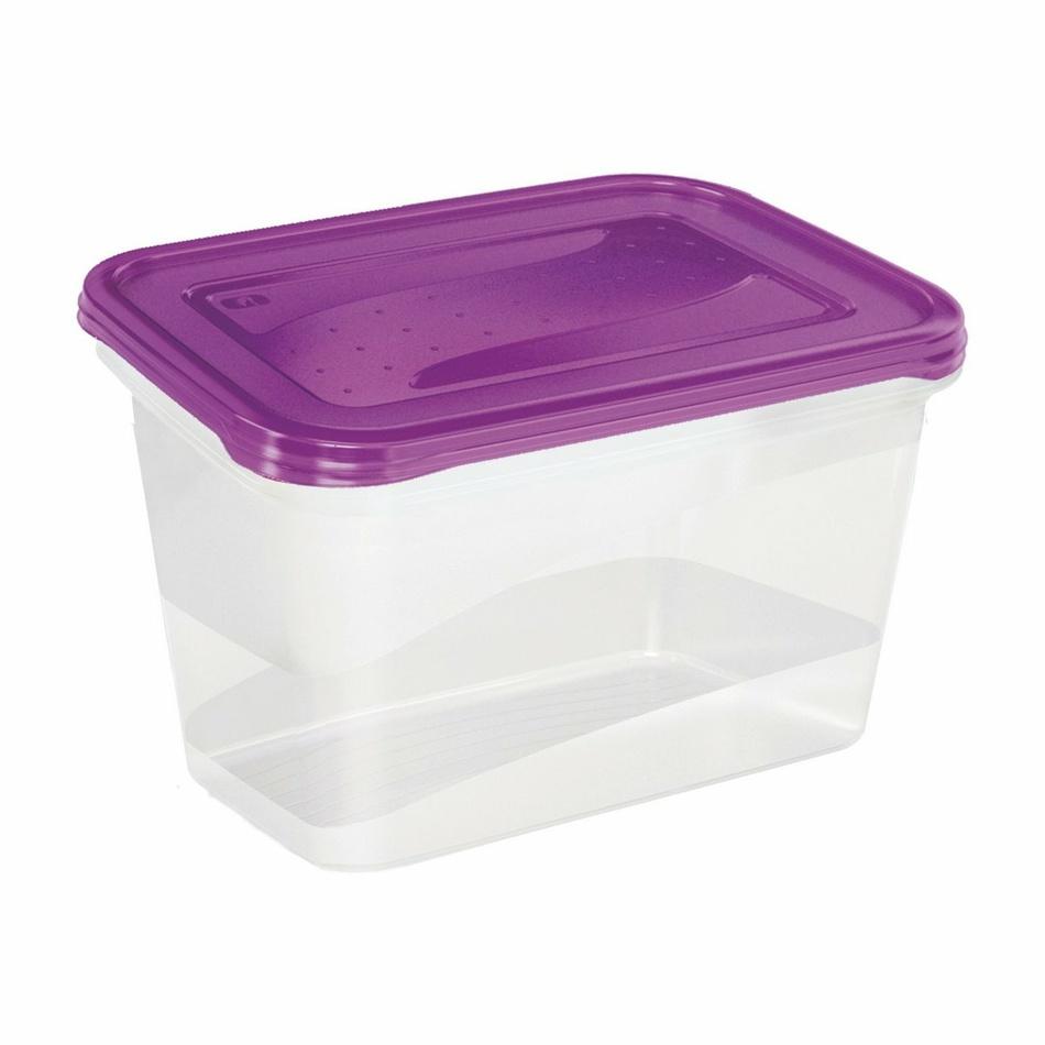 Keeeper Set dóz na potraviny vhodné do mrazničky fredo fresh, fialová 2x2L