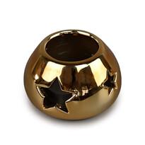 Sfeşnic ceramic de Crăciun, auriu