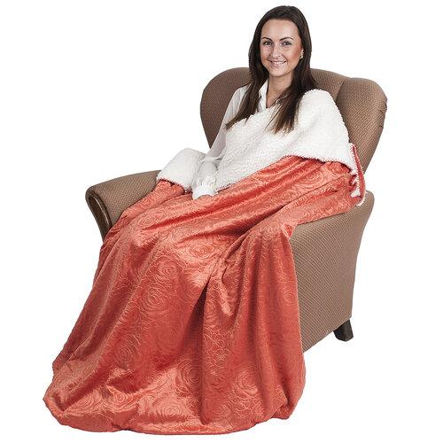 4Home baránková deka Luxury oranžová, 150 x 200 cm