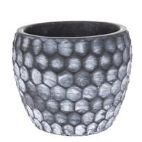 Milano beton virágtartó kaspó, 16,5 x 13 xx 16,5 cm
