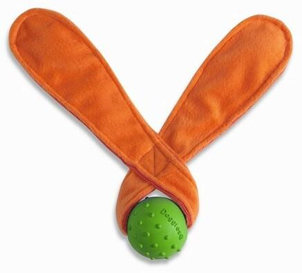 Přetahovací hračka pro psy - uši REBEL DOG, oranžová