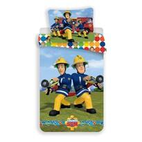 Lenjerie de pat din bumbac pentru copii Pompier Sam colours, 140 x 200 cm, 70 x 90 cm