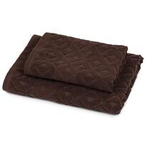 Zestaw Rio ręcznik i ręcznik kąpielowy brązowy, 50 x 100 cm, 70 x 140 cm