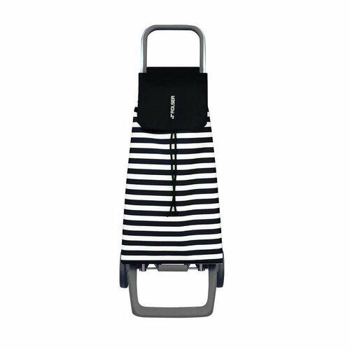 Nákupná taška na kolieskach Rolser Jet Marina Joy Blanco/Negro