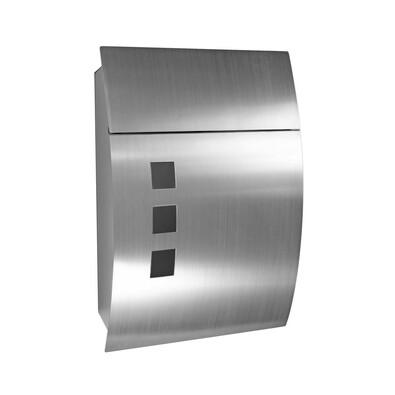Cutie poştală din oţel inoxidabil Parla, argintie