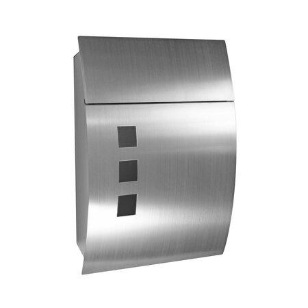 Skrzynka pocztowa ze stali nierdzewnej Parla, srebrny