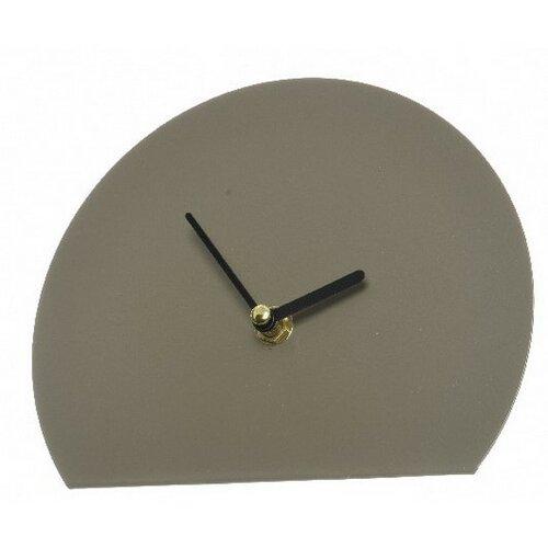 Hodiny Semicircle šedá, 18 cm