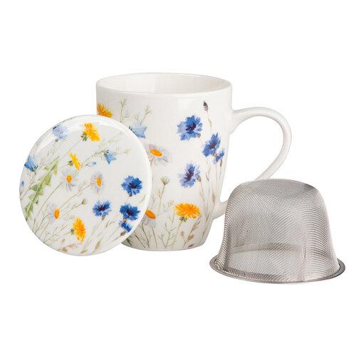 Altom Porcelánový hrnček so sitkom a viečkom Spring, 300 ml