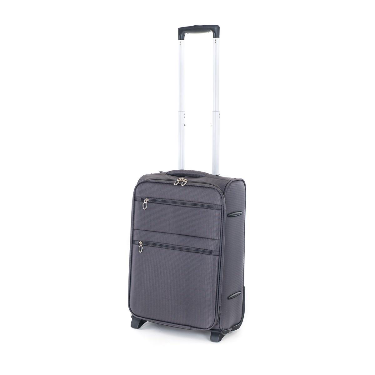 Pretty UP Cestovný textilný kufor TEX15 S, sivá