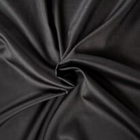Cearşaf din satin, negru, 140 x 200 cm
