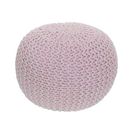 Pletený taburet Gobi 1, ružová