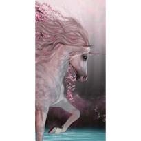 Jerry Fabrics Osuška Unicorn roses, 70 x 140 cm
