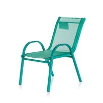 Happy Green Detská záhradná stohovateľná stolička Nikki, zelená