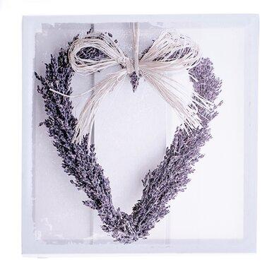 Tablou pe pânză Inimă de lavandă, 28 x 28 cm