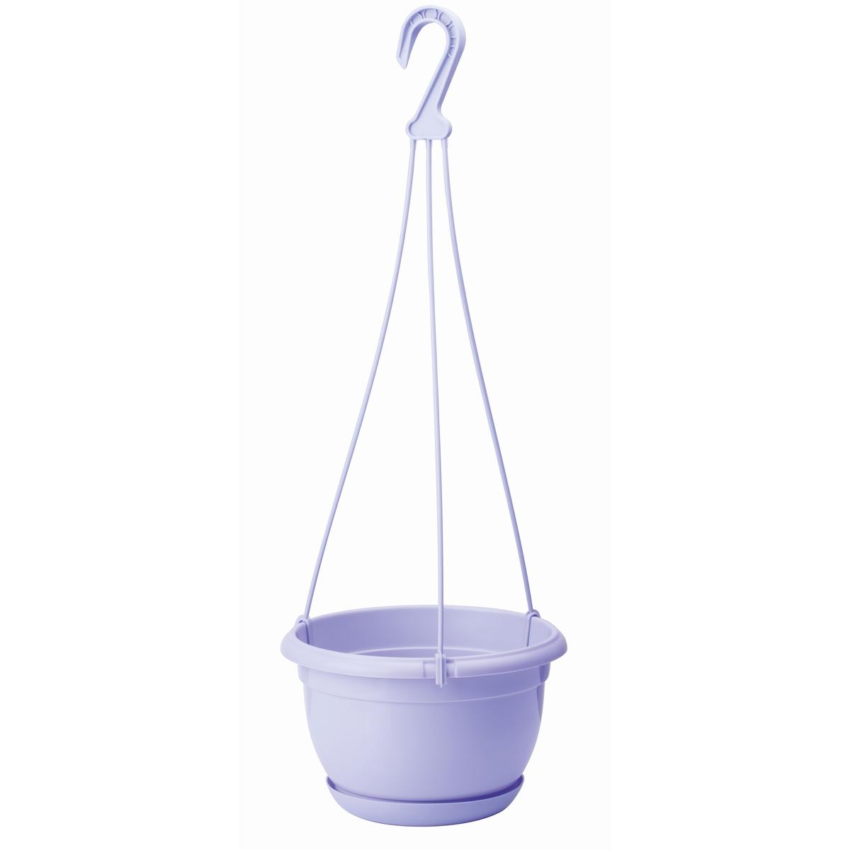Plastový kvetináč Malta 24 cm, fialová, ,