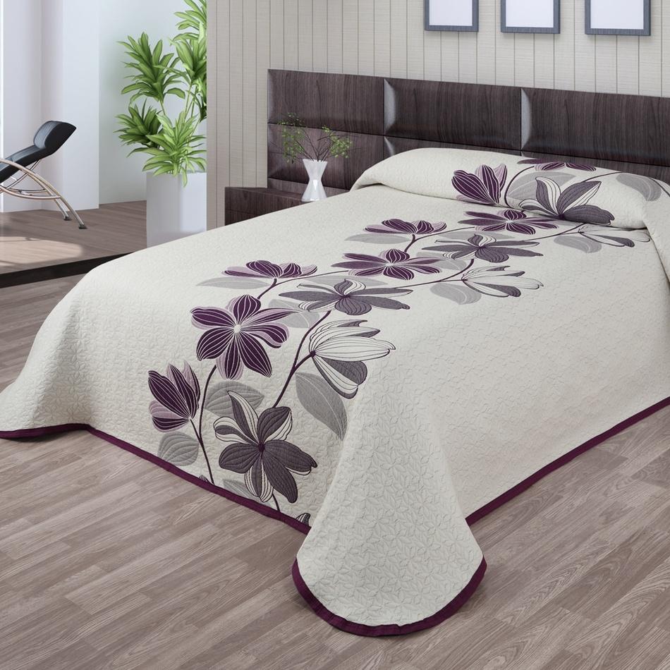 Forbyt Prehoz na posteľ Azura fialová, 240 x 260 cm