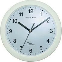 Analógové DCF nástenné hodiny biela