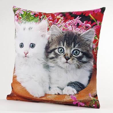 Povlak na polštářek Kočky, 40 x 40 cm