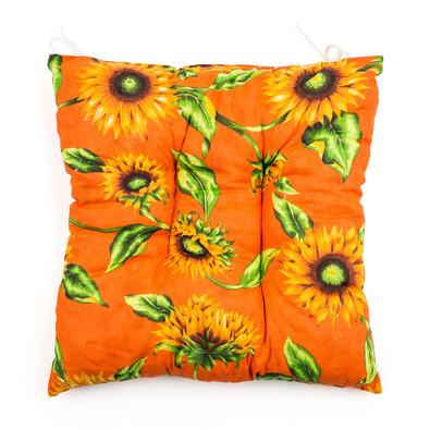 Sedák slunečnice oranžová, 40 x 40 cm