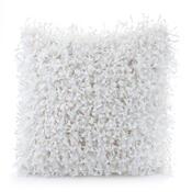 Povlak na polštářek Shaggy bílá, 45 x 45 cm