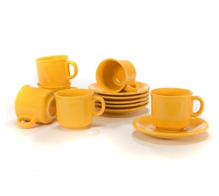 Čajová souprava žlutá