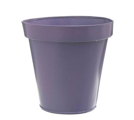 Plechový květináč, fialová