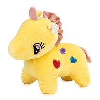 Jucărie din pluș Unicorn galben, 40 cm