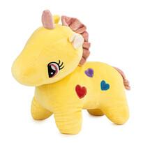 Zabawka pluszowa Jednorożec żółty, 40 cm
