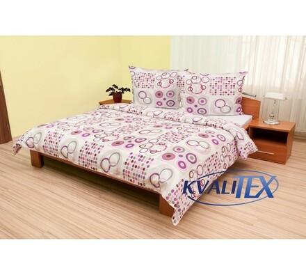 Bavlnené obliečky Olympia fialová, 240 x 200 cm, 2 ks 70 x 90 cm