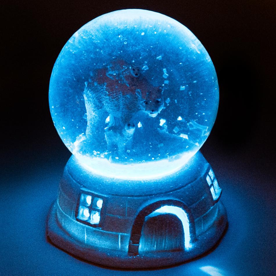 Vianočné LED snežítko Igloo Vaasa, 11 cm