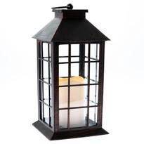 Lampáš s LED sviečkou na batérie Lille 14 x 28 cm, čierna