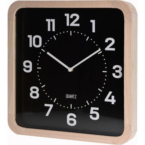 Zegar ścienny Square czarny, 40 cm