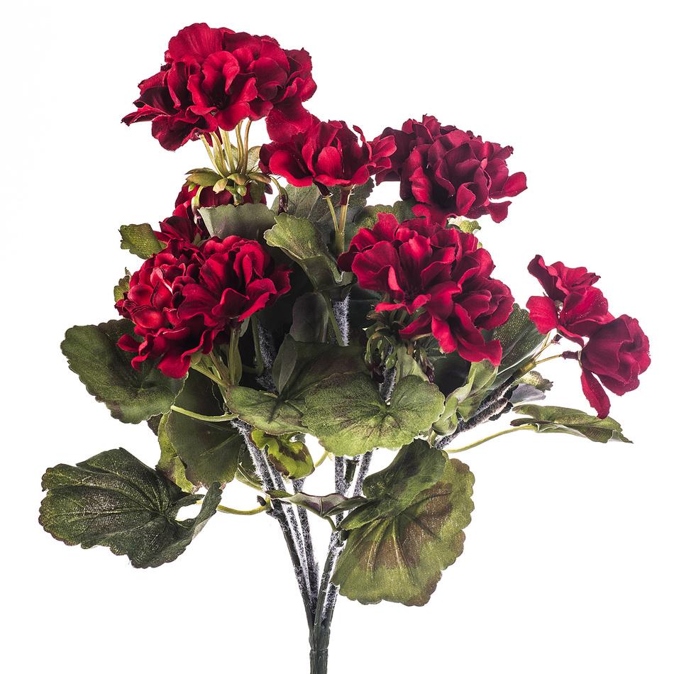 Umelá kvetina muškát červený