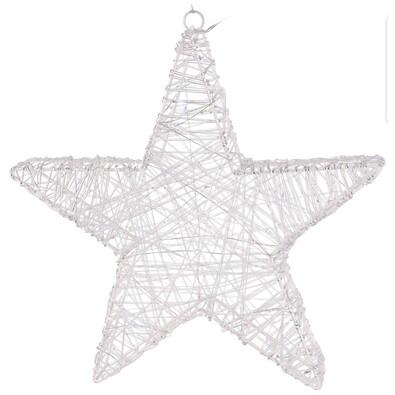 Karácsonyi drót csillag Aprilia ezüst, 30 LED