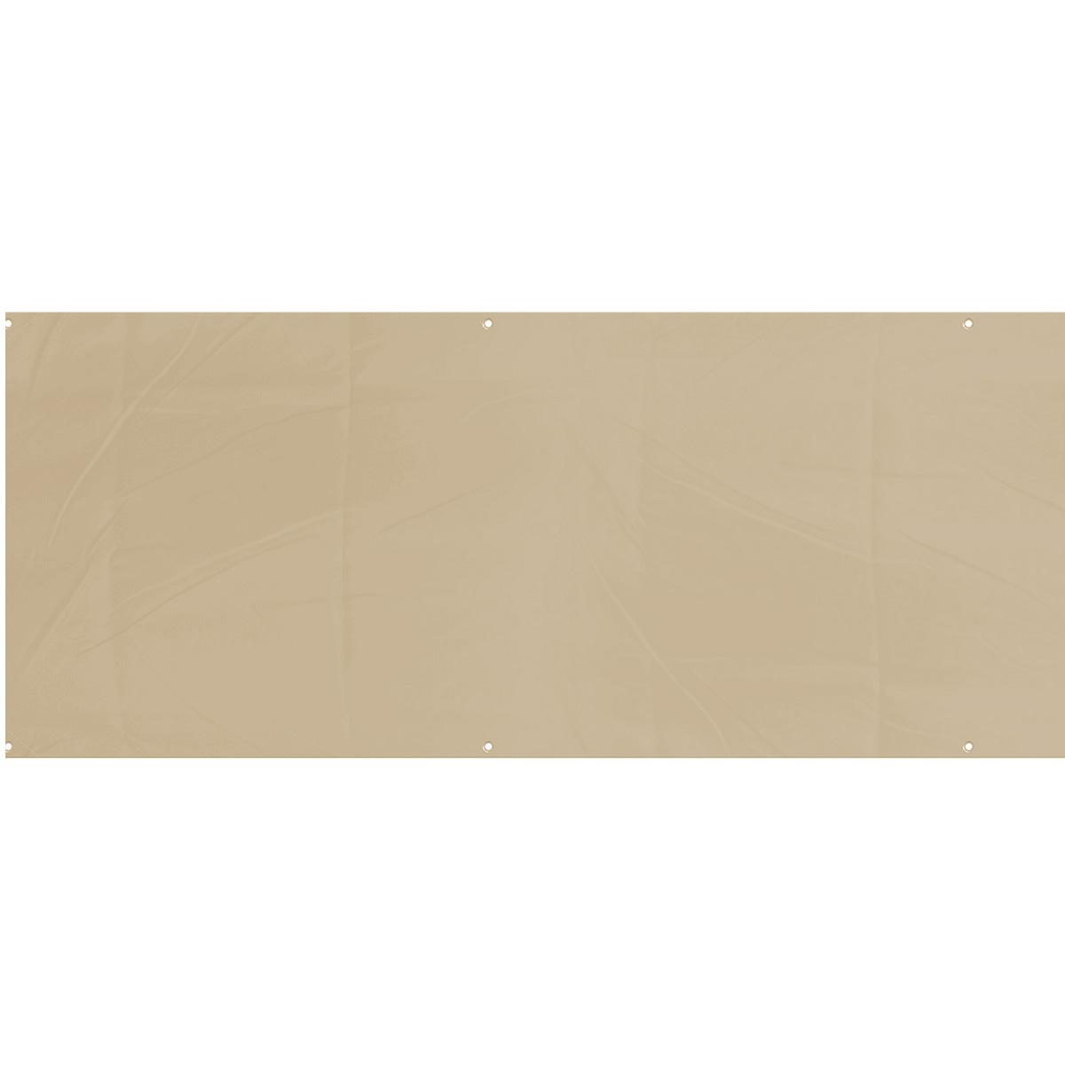 Balkónová zástena béžová, 75 x 445 cm