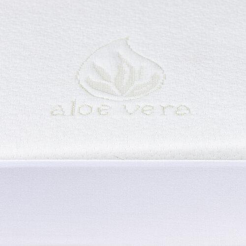 4home Aloe Vera Nepriepustný chránič matraca s lemom, 60 x 120 cm + 15 cm