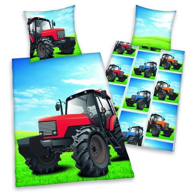 Bavlnené obliečky Traktor, 140 x 200 cm, 70 x 90 cm