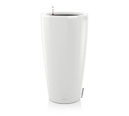 Lechuza Rondo plastový květináč samozavlažovací bílá