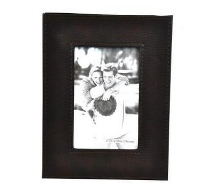 StarDeco fotorámeček kožený 10 x 15 cm  tmavě hnědý