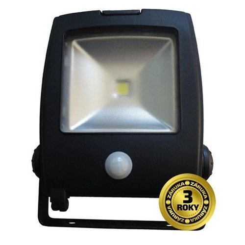 Reflektor LED Solight plochý venkovní reflektor, 10W, 800lm, AC 230V, černý, se senzorem WM-10WS-C