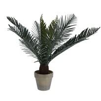 Mű pálma virágtartóban, sötétzöld, 50 cm
