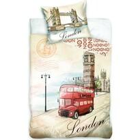 Pamut ágyneműhuzat London bus, 140 x 200 cm, 70 x 90 cm
