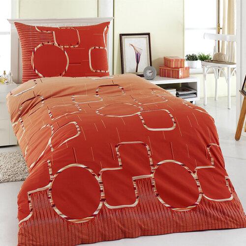 Bavlnené obliečky Myra oranžová, 220 x 200 cm, 2 ks 70 x 90 cm