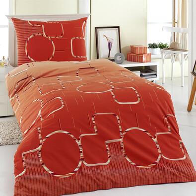 Bavlněné povlečení Myra oranžová, 220 x 200 cm, 2 ks 70 x 90 cm