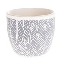 Recipient ceramic ghiveci Frunze, albastru, 17x 15 x 17 cm