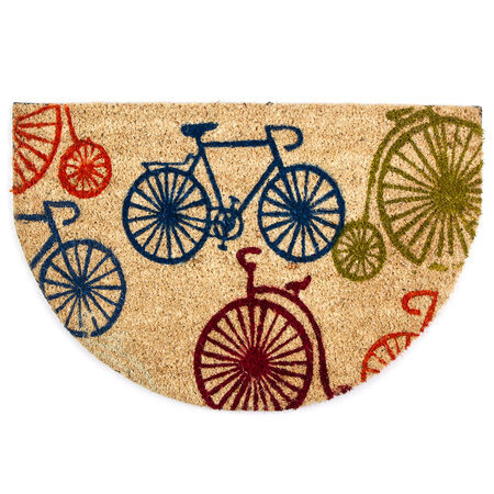 Kokosová rohožka polkruh Bicykle, 40 x 60 cm